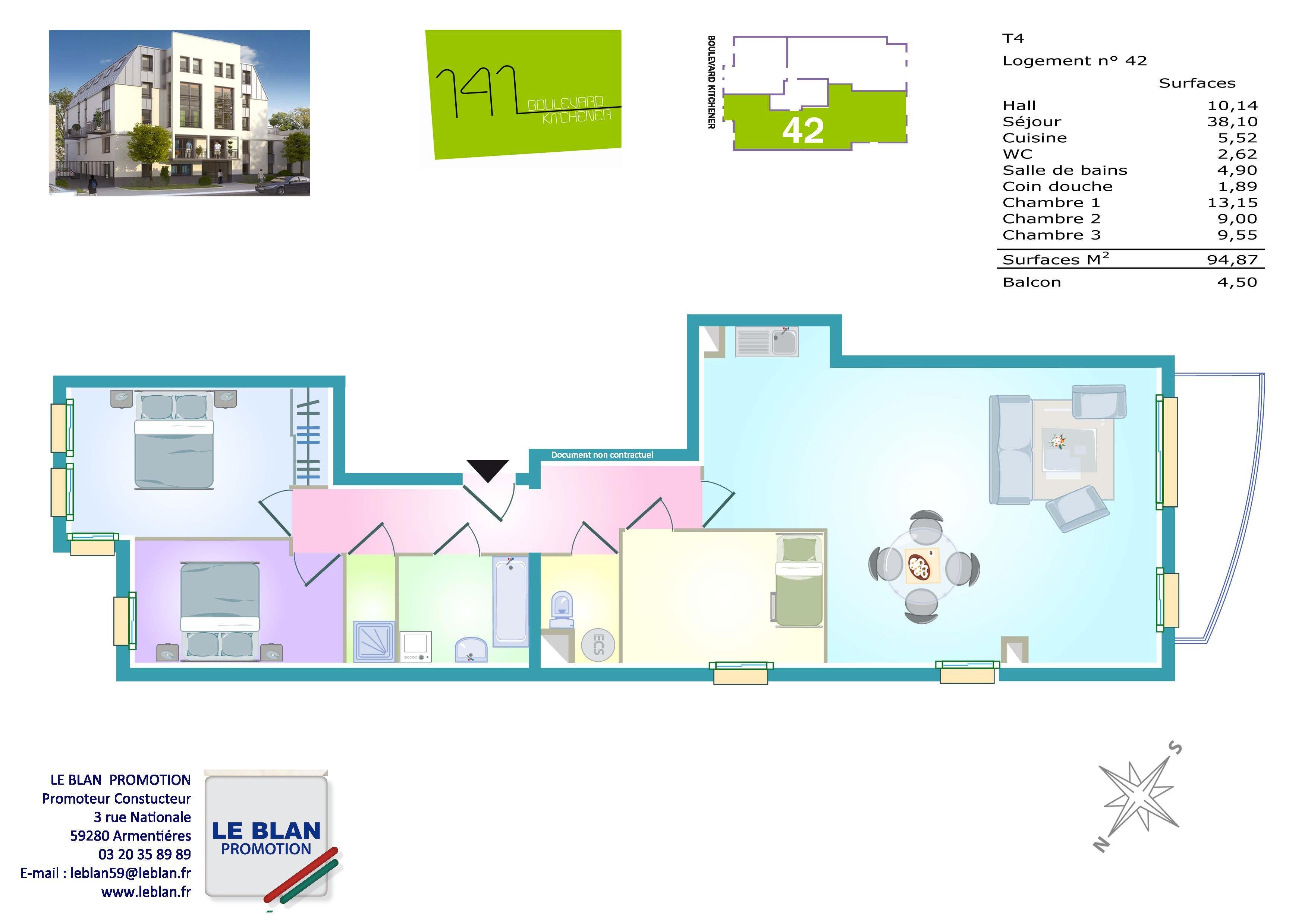 le 141 bd kitchener appartement neuf pas de calais le blan promotion. Black Bedroom Furniture Sets. Home Design Ideas